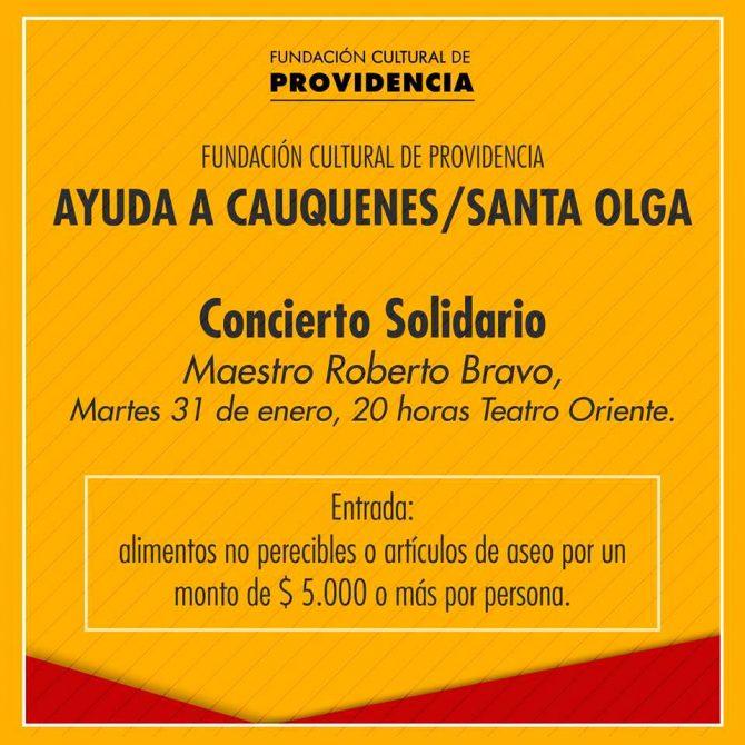 Concierto solidario: Ayuda a Cauquenes / Santa Olga