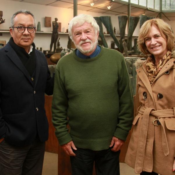 Visita al taller del escultor y Premio Nacional de Arte Mario Irarrázabal
