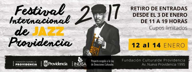 Festival de Jazz de Providencia 2017 será gratis nuevamente