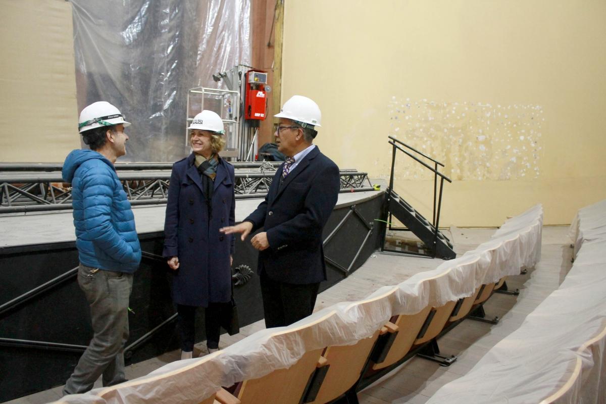 Visita trabajos Teatro Oriente