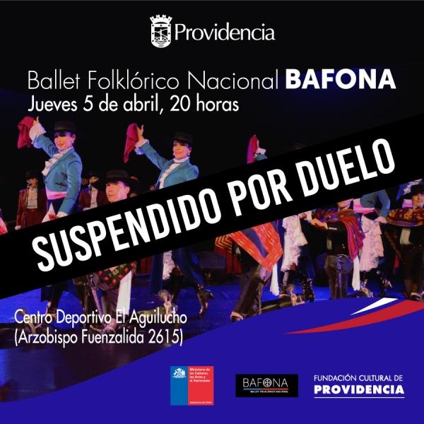 Suspendida presentación del BAFONA