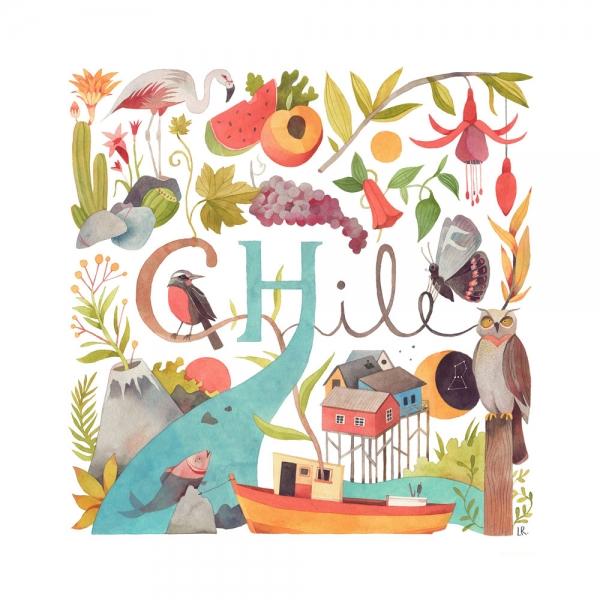 Ilustraciones de Chile llegan hasta Providencia