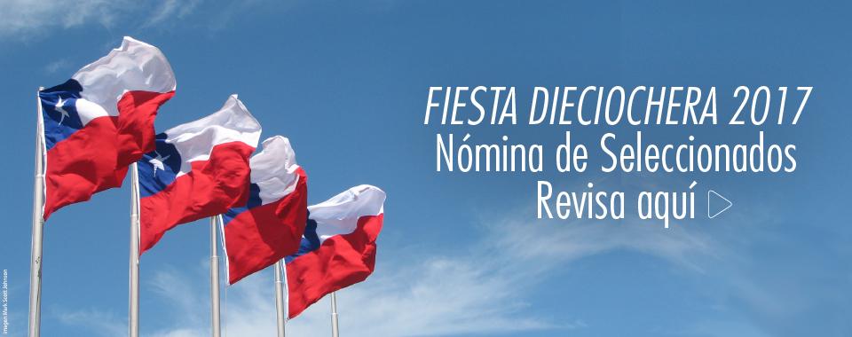 Nómina de Seleccionados Fiesta Dieciochera 2017