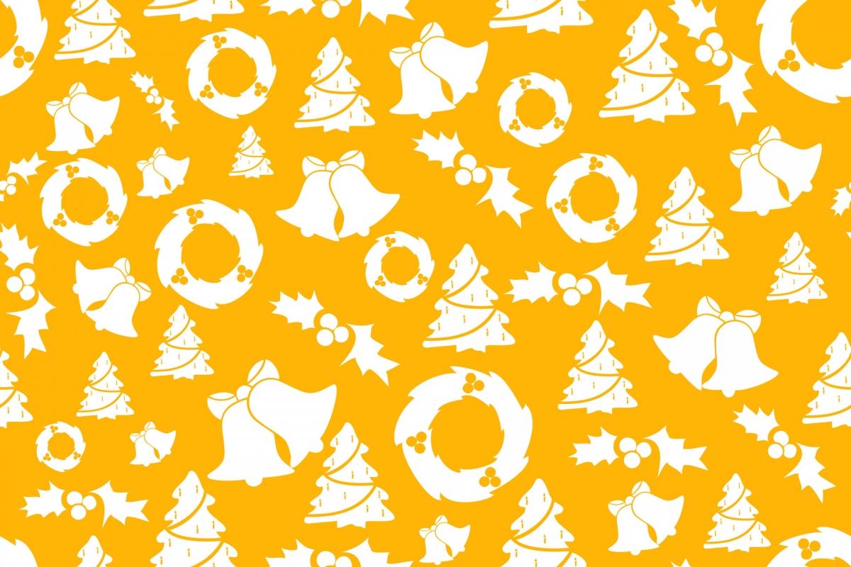 yellow-christmas-background