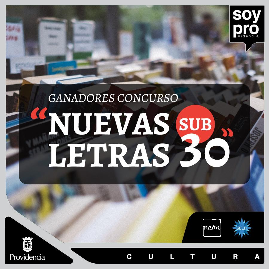 """Ganadores Segunda Edición del Concurso de Cuentos """"Nuevas Letras Sub 30"""""""
