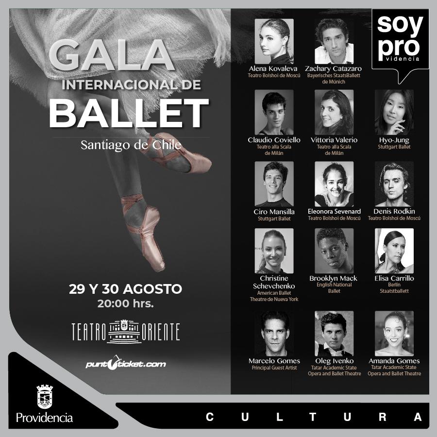 Tercera versión de la Gala Internacional de Ballet de Providencia