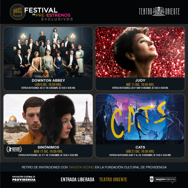 Festival de Pre-Estrenos Exclusivos en Providencia