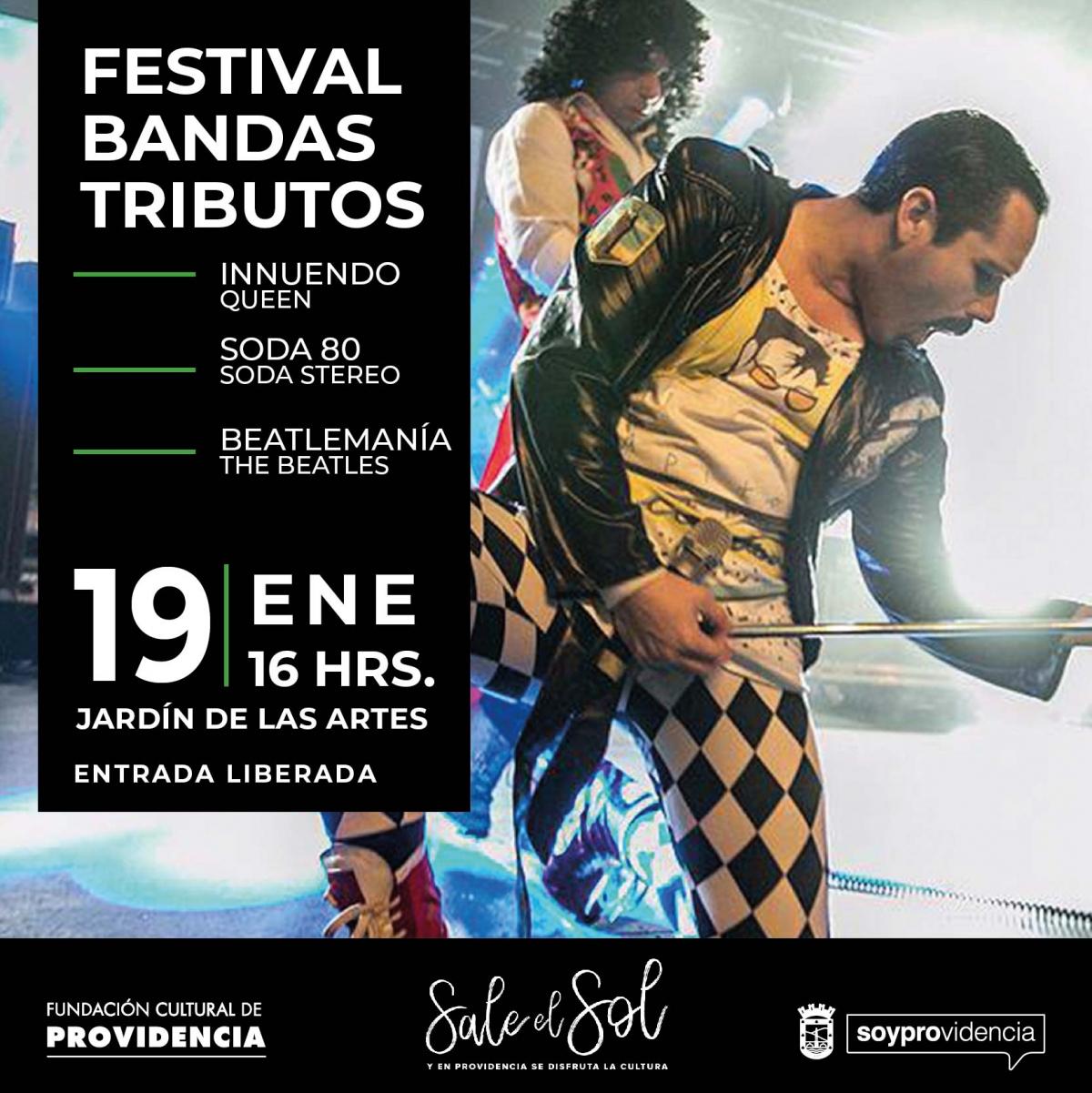 Festival Bandas Tributos: Soda 80, Innuedo (Queen) y Beatlemanía.