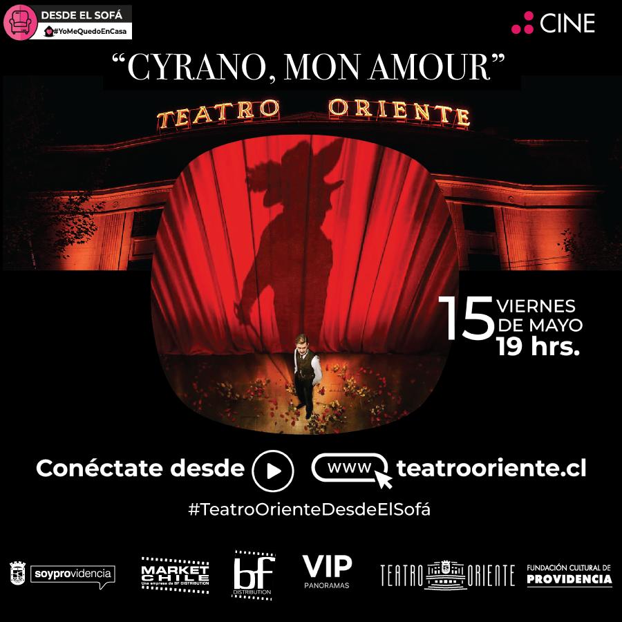 """Con película """"Cyrano Mon Amour"""" parte el cine en Providencia"""