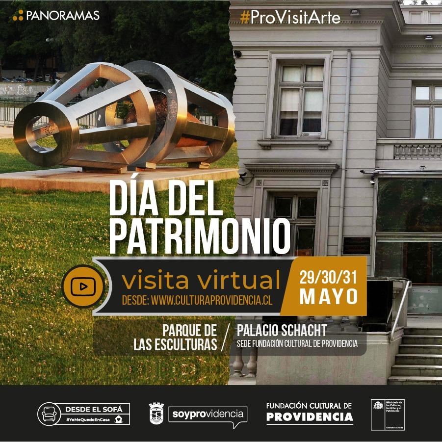 Recorridos virtuales por Palacio Schacht y Parque de las Esculturas en Día del Patrimonio