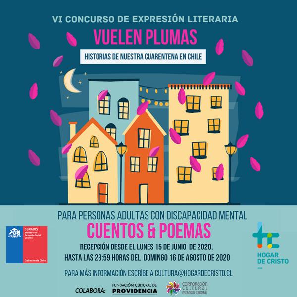 Vuelen, plumas: Hogar de Cristo lanza 6ta versión de Concurso literario para personas con discapacidad