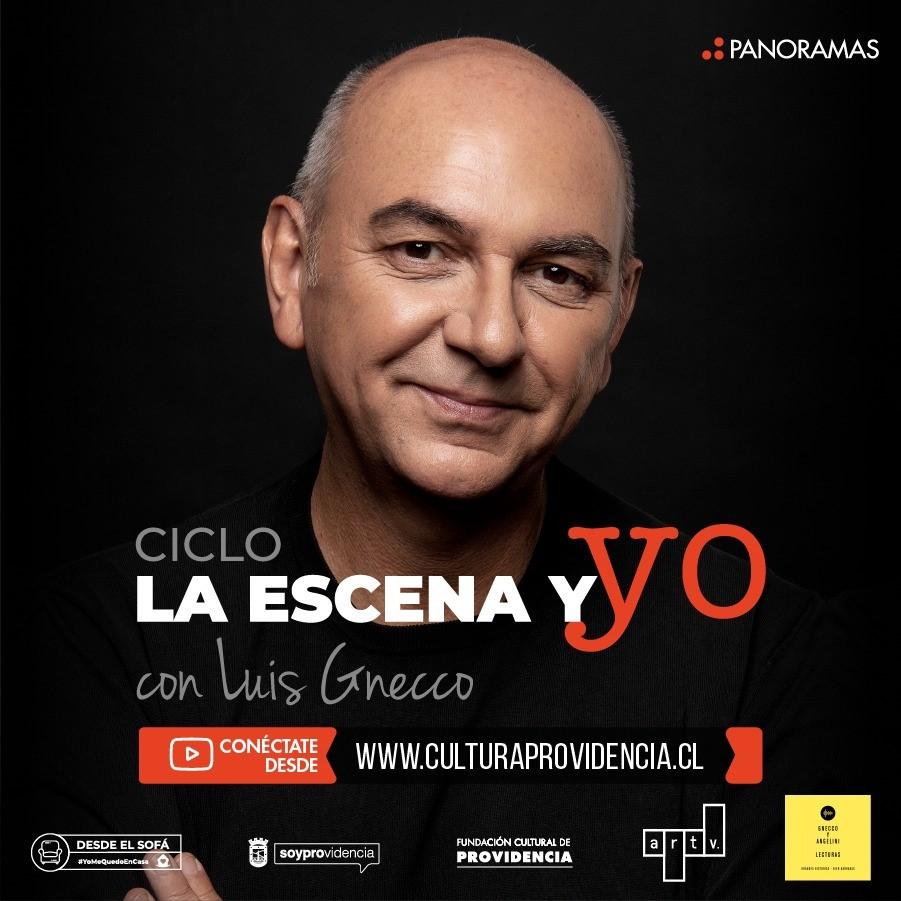 Luis Gnecco con lecturas dramatizadas desde Providencia