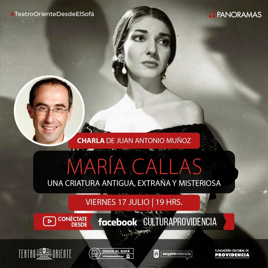 """Charla: """"María Callas, una criatura antigua, extraña y misteriosa"""""""