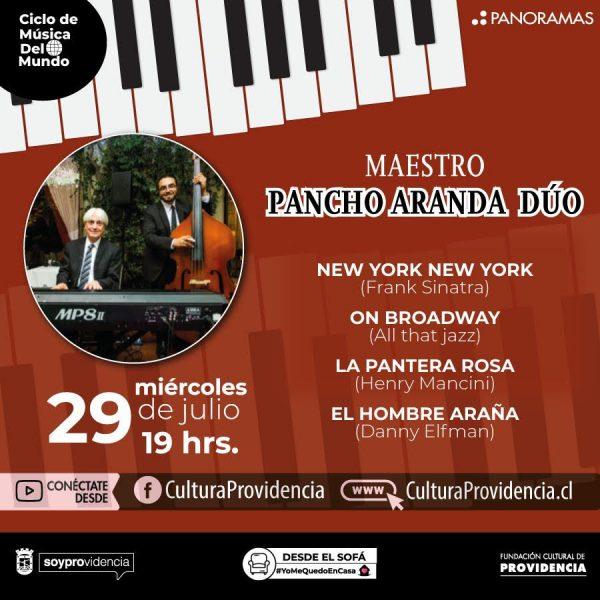 CICLO DE MÚSICA DEL MUNDO: Maestro Pancho Aranda Dúo
