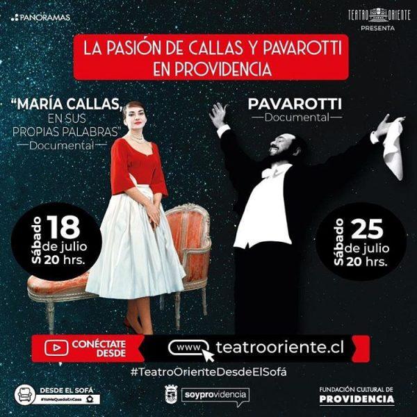 La Pasión de Callas y Pavarotti en Providencia